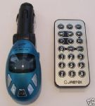 CAR MP3 PLAYER TRANSMITTER IN BLUE UK SELLER *NEW*